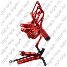 Red CNC Adjustable Rearsets Footpegs Pedal Footrests Footrest For Ducati 999 749