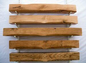 Oak beam mantel fire surround floating shelf mantle