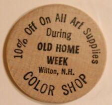 Vintage Old Home Week Wooden Nickel Wilton New Hampshire