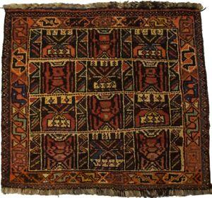 Handmade Vintage Tribal Design 2X2 Oriental Square Rug Farmhouse Kitchen Carpet