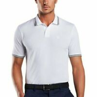 G/Fore Men's Core Tipped Polo Shirt Snow White Size S, M, L $95 NWT