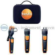 Testo 0563 0004 Smart and Wireless Hydronic Heating Probe Kit With Case