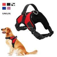 Dog Walking Harness No Pull Adjustable Reflective Nylon Traing Strap S/M/L/XL