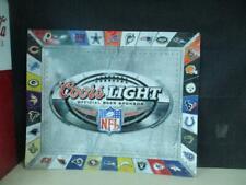"New listing Huge Coors Light Nfl Teams Football Metal Tin Beer Sign 34"" x 28"""