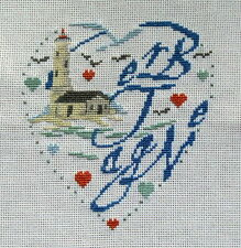 broderie point de croix  coeur  BRETAGNE I Vautier
