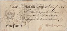 More details for newark bank 1805 white £1 banknote in good fine condition
