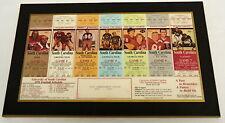 1991 framed SET OF SEASON TICKETS University of South Carolina Football