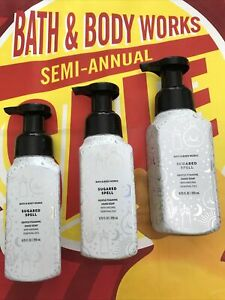 NEW 3 Sugared Spell HALLOWEEN Foaming Soap 8.75 oz Bath & Body Works SHIPS FREE!