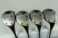 Lot 4 Vintage Ping Karsten II 1, 3, 4, 5 Wood Golf Clubs USA Made Right Handed