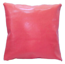 pe216a Coral Faux Leather Classic Pattern Cushion Cover/Pillow Case Custom Size