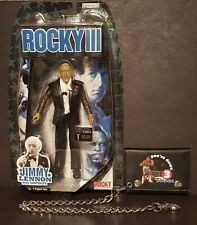 JIMMY LENNON ACTION FIGURE (BRAND NEW) ROCKY III + CLUBBER LANG WALLET 80's MR T