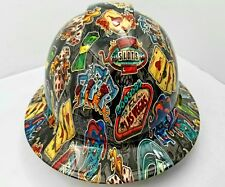 FULL BRIM Hard Hat custom hydro dipped , NEW WICKED GAMBLER OSHA APPROVED NEW