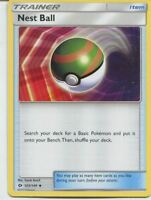 Nest Ball 123/149 Sun & Moon Uncommon Trainer Item Cards (x4 Cards, Playset)