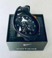 NIKE TRIAX SWIFT 31 WATCH--WR0091-001--Black/Black---RARE!-New in Box!