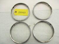 1959 1960 Chevy Impala etc Headlight Retainer Rings Beauty Rings Set of 4 OEM