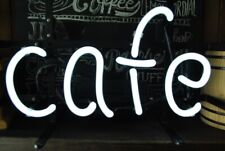 "Cafe Shop Open Neon Lamp Sign 14""x6"" Bar Lighting Garage Cave Pub Wall Artwork"