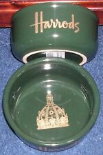 HARRODS SIGNATURE GREEN STONEWARE DOG BOWL MEDIUM - GREAT DOG LOVER GIFT GIFT