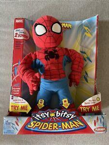 "2006 Playskool Marvel Itsy Bitsy Spider-Man & Friends 14"" Singing Dancing Toy"