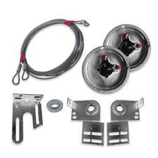 Garage Door Torsion Spring Conversion Kit 7' Door End Bearing Plates Cable Drum