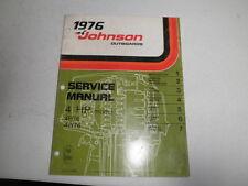 1976  johnson outboard motor factory service manual 4 hp