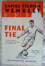 1939 FA Cup FINAL Programme Portsmouth v Wolverhampton Wanderers, 29 Apr (Org*).