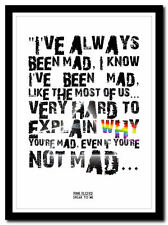 PINK FLOYD - Speak to Me ❤ song lyric poster in 4 sizes ❤ typography art print