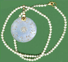 Round Pendant Engravd 2 Sides c.1765 CHINESE PEARL GAME TOKEN VERMEIL FANCY BALE