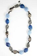 NEW $150 AMRITA SINGH Chunky Blue Resin Bead Chantico Hawaii Boho Necklace