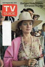 1975 TV Guide - Barbara Walters - Beacon Hill - KYUS-TV - Instant Replays - Quiz