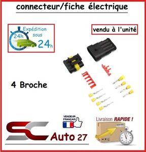 connecteur / fiche électrique étanche pour 4 branchement