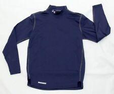Under Armour men's long sleeve mock neck pullover shirt blue size M