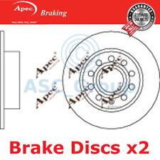 2 X Apec BRAKING 253mm Solide Original Qualität Ersatz Bremsscheiben (Paar)