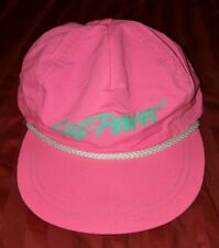 Arctic Cat Power Neon Pink Rainbow Snapback Snowmobile Hat Vintage RARE HTF Cap