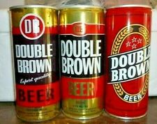 Collectable beer cans - Set of 3 Double Brown (DB) 460ml steel cans (N.Z)