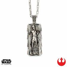 """NEW Licensed Star Wars Han Solo in Carbonite Pendant 30"""" Gift Necklace Han Cholo"""