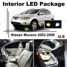 White LED Lights Interior Package Kit for Nissan Murano 2003-2008 ( 11 Pcs )
