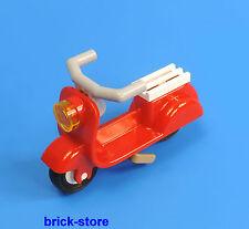 LEGO® roter 50er / 60er Jahre Roller / Motorroller