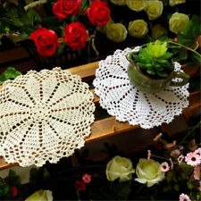 8'' Cotton Yarn Hand Crochet Lace Doily Placemat Round 20CM Table Cup Mat