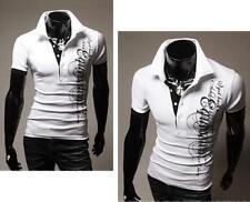 Stylish Luxury Slim Short Sleeve Men's T-shirts Casual POLO Shirt New Fashion