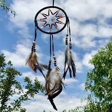 New Traditional Design Beaded Black Dream Catcher Native American Mobile