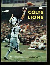1964 Baltimore Colts v Detroit Lions Program 12/6/64 Ex/MT 26834