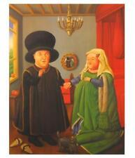 Fernando Botero Die Arnolfinis Poster Kunstdruck Bild 58x49cm