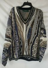Vintage 90's Tundra Mercanized Textured XL Cosby Style Biggie Smalls Sweater EUC