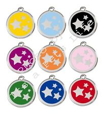 Stars Enamel/Solid Stainless Steel Engraved ID Dog/Cat Tag