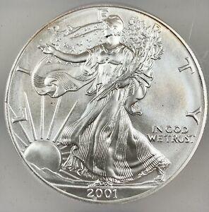 2001 United States 1oz Silver Eagle - ICG MS69