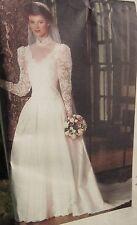 VOGUE SEWING PATTERN BRIDE BRIDAL ORIGINAL WEDDING DRESS GOWN PETTICOAT Size 14