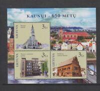 Lithuania - 2011, Anniversary of Kaunas sheet - MNH - SG MS1027