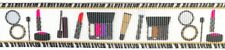 "MAKEUP with ZEBRA BORDER 7/8"" - By the yard Grosgrain Ribbon for Crafting"