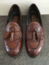 Florsheim Tassle Loafers Brown UK 8