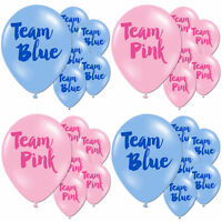 Team Pink Blue Girl Boy Baby Shower Gender Reveal Party Latex Printed Balloons
